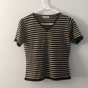 Vintage women's striped shirt